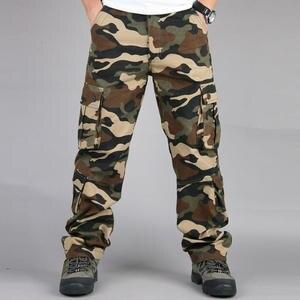 e38adba684 Asstseries Men Casual Cargo Trousers Cotton Tactical Pants