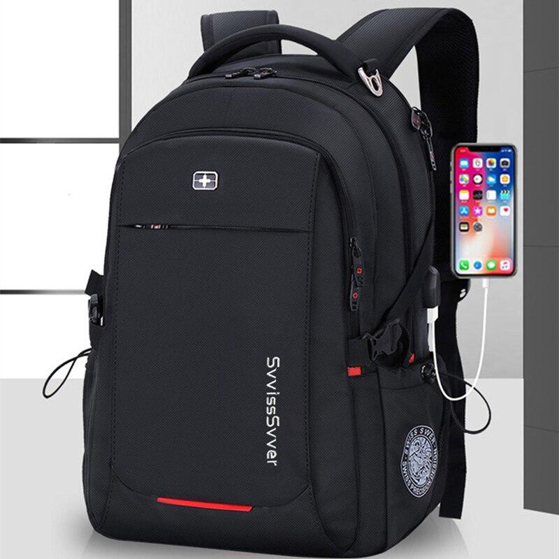 Svvisssvver mâle multifonction USB charge mode affaires décontracté voyage anti-vol étanche 15.6 pouces ordinateur portable hommes sac à dos - 2