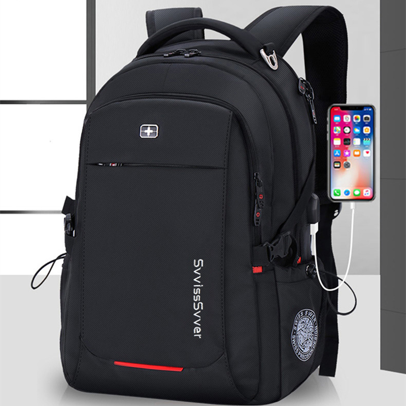 Image 2 - svvisssvver male Multifunction USB charging fashion business casual travel anti theft waterproof 15.6 inch Laptop men backpack-in Backpacks from Luggage & Bags