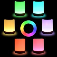 Dimmable LED colorful creative wood grain charging night light table lamp bedside feeding atmosphere