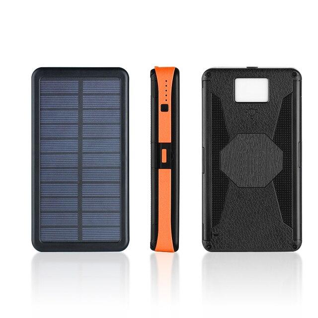 20000mAh LED Solar Power Bank Folding Foldable Portable Solar Panel Solar Charger External Battery Solar Powerbank For Phone 6