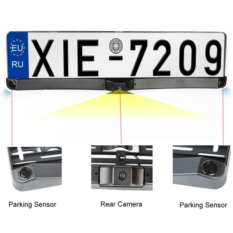 HD CCD EU European Car License Rear View Camera Front View Camera License Plate Frame Parking Camera With Two Parking Sensors-in Parking Sensors from ...  sc 1 st  AliExpress.com & HD CCD EU European Car License Rear View Camera Front View Camera ...
