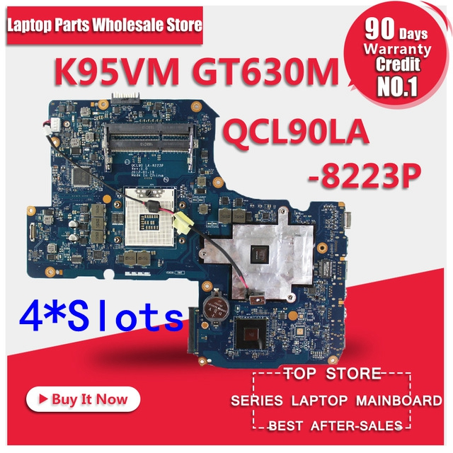 все цены на New USB baord+GT630M 2GB LA-8223P REV:1.0 K95VM Motherboard 4*Slots For A95V K95V K95VJ K95VB R900V Laptop Mianboard Motherboard онлайн