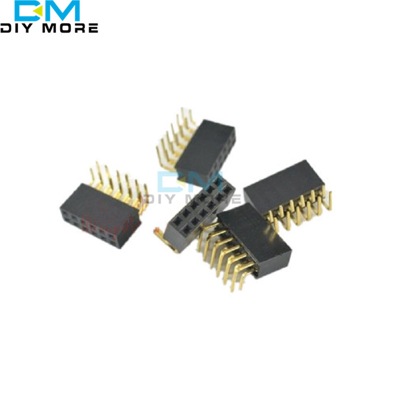 20PCS 2x6Pin Header Right Angle Female Double Row Socket Connector 2.54mm Pitch