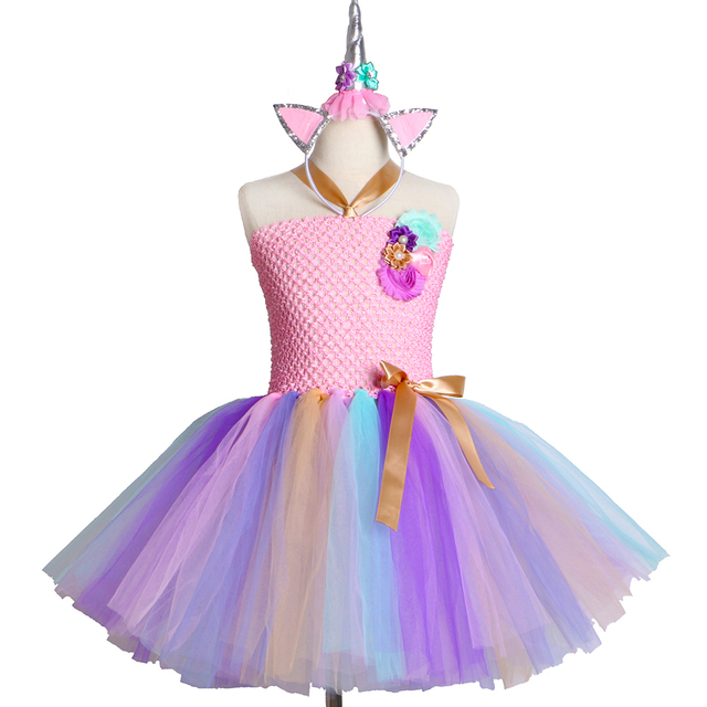 477675c1c Kids Girls Unicorn Tutu Dress for Halloween Birthday Party Dress ...