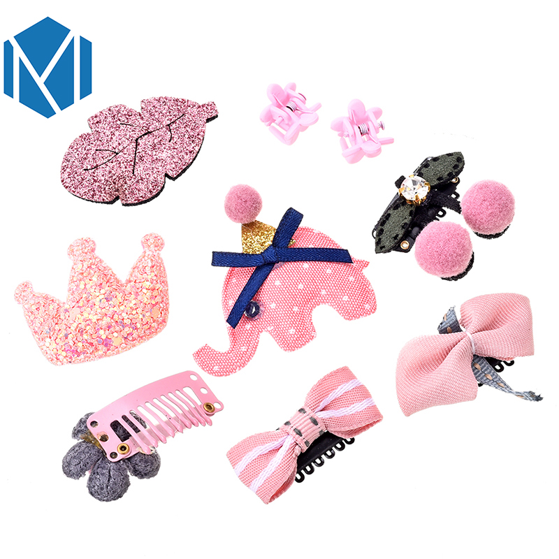 M MISM 1Set = 9PCS Lányok Virág Madarak Korona Hajcsíkok Fésű - Ruházati kiegészítők
