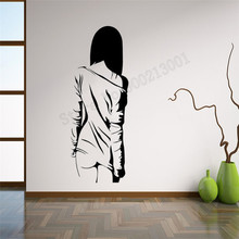 Anime Manga Girl Wall Sticker Vinyl Art Removeable Poster Modern Home Decoration Beautiful Decor Sexy Naked Woman TeenLY798