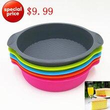Красивой круглой плесень выпечки торт лоток чайник формы силиконовые большой инструменты