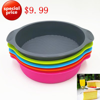 29 24 5 6CM 160G 2016 Hot Sell Big And Beautiful Round Shape Silicone Cake Mold