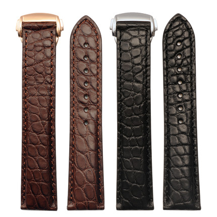 Фотография 19 20 mm Top Quality Watch Strap For Omega For Speedmaster/Seamaster/Ladymatic Alligator Leather Watch Band Strap Men Bracelets