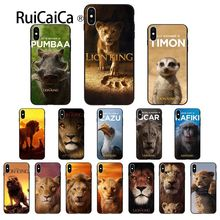 Ruicaica the lion king movie Black Soft Shell Phone Cover for iPhone X XS MAX 6 6S 7 7plus 8 8Plus 5 5S XR
