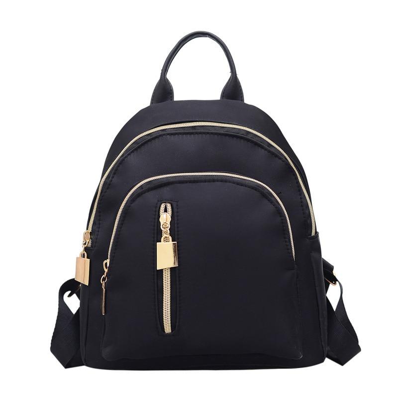 Fashion Backpack Women Nylon Ladies Back Pack Anti Theft Daypacks Student Female Rucksack Kids Teenage Girls Shoulder Small Bags