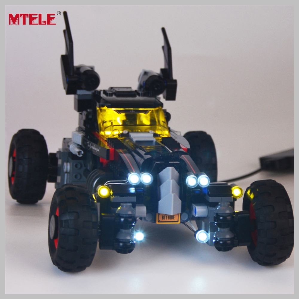 Komplet svetlobnih svetilk blagovne znamke MTELE za film o superjunakih Mobilni komplet osvetlitve Batman Robbin, združljiv z Lego 70905