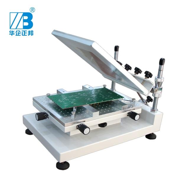 דיוק מתכוונן smt סטנסיל מדפסת ידנית הלחמה להדביק הדפסת מכונה