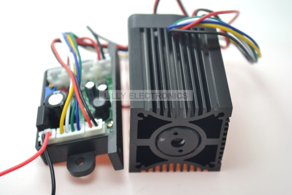 12V 532nm 200mw Green Laser Dot Module Fan Cooling TTL 0-30KHZ-Long time working
