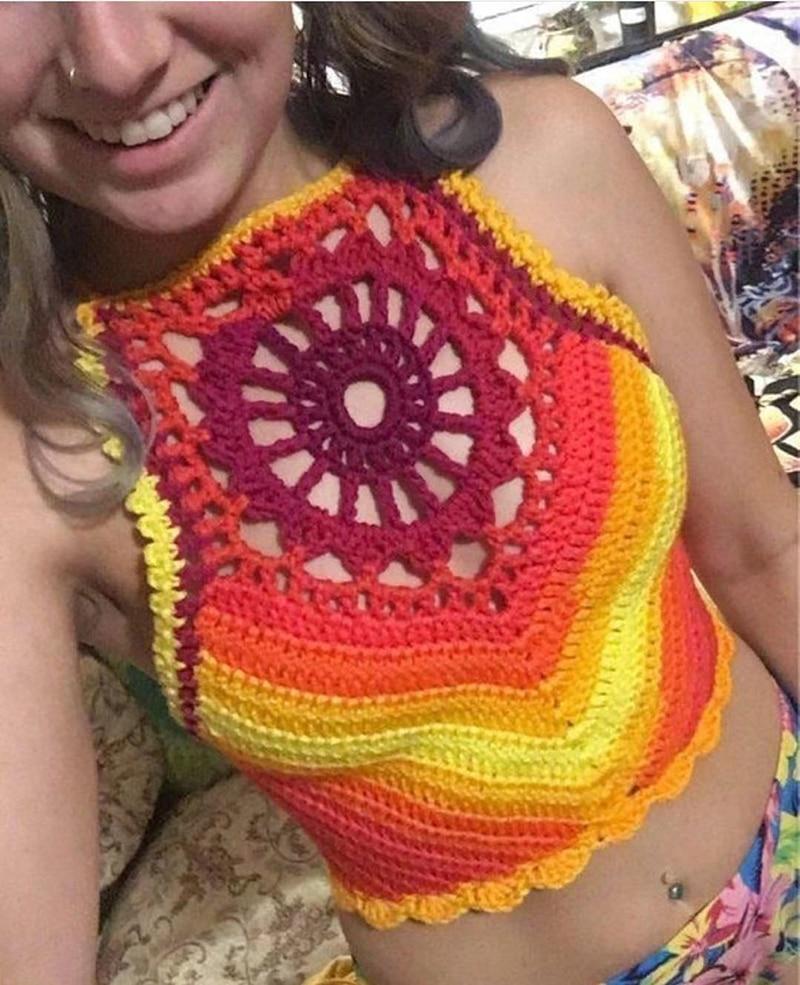 bandage sexy hot swimsuit women summer beachwear tank top (2)
