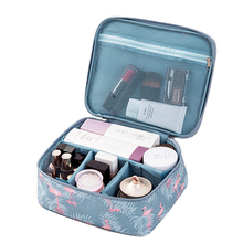Flamingo Multifunction Waterproof Portable Cosmetic Bag  Case Organizer Big capacity Women Travel Necessity Beauty Makeup