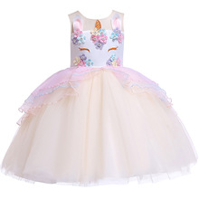 Kids Princess Dresses For Girls Unicorn Party Dress Children Toddler Cosplay Vestido fantasia infantil