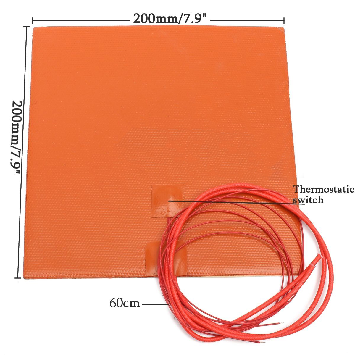 Fast Heating 200W 12V Silicone Heater Pad For 3D Printer Duplicating Machines Heated Bed Orange Heating Mat Repair Tools Mayitr flsun 3d printer big pulley kossel 3d printer with one roll filament sd card fast shipping