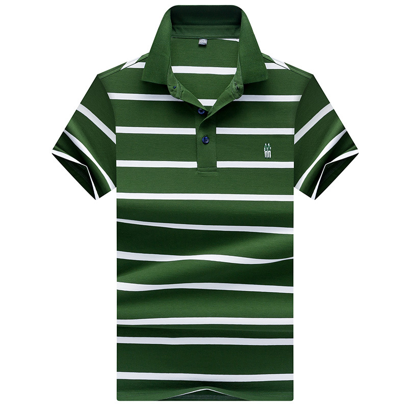 New Mens   Polo   Shirts Short Sleeve Male Fashion Striped High Quality Cotton Casual   Polo   Shirt Men Brand Clohting Tees 3 Xl AF8078