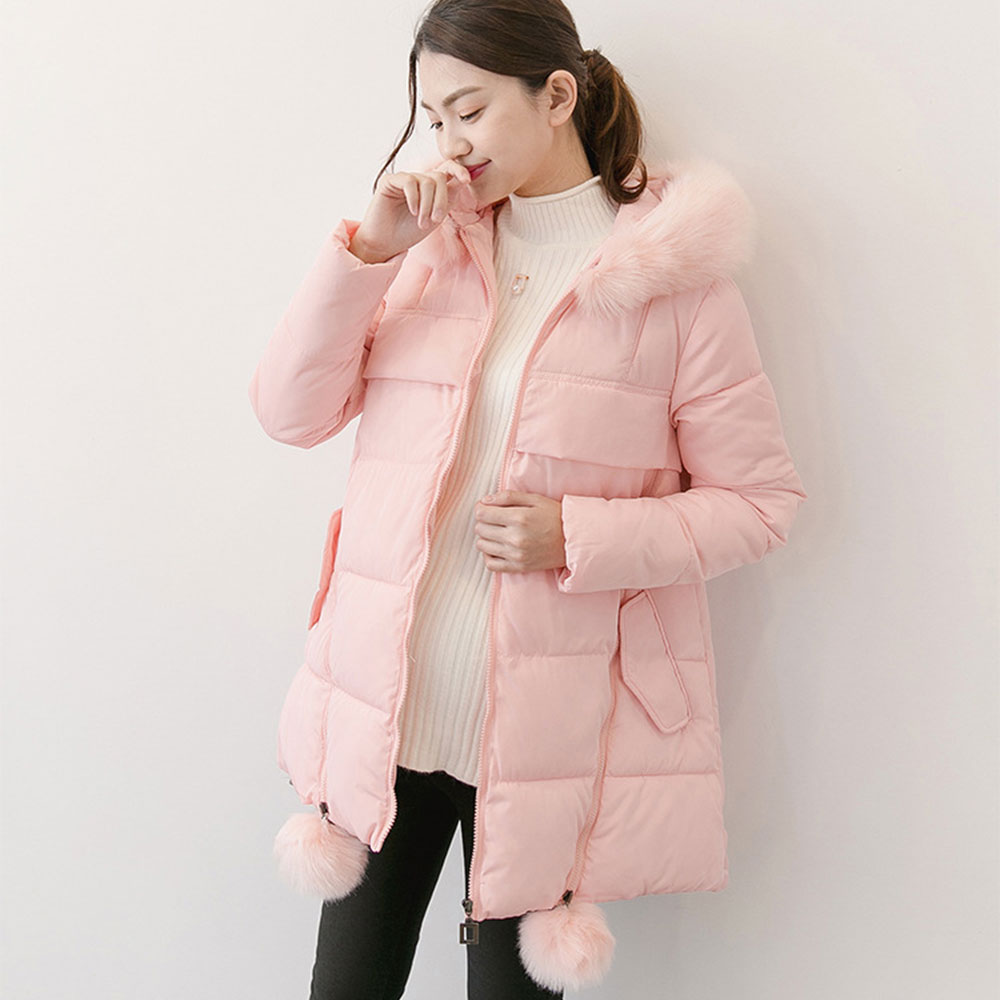 Maternity Coat With Fur Hooded Fashion Thicken Winter Coat For Pregnant Women Pregnancy Coats Outerwear Plus L-XL Windbreaker fashion maternity coat with fur hooded thicken winter coat for pregnant women jacket m 2xl plus pregnancy overcoat windbreaker