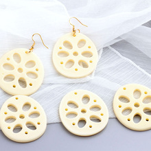 2pcs korea resin funny personality simulation white lotus root earrings pendant popular wholesale jewelry accessories material