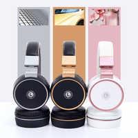 Neueste Bluetooth stereo kopfhörer rose drahtlose kopfhörer eingebaute Mic Bluetooth headset auf-Ohr kopfhörer (Shooting Brake)