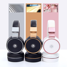 Newest Bluetooth stereo headphones rose wireless built-in Mic headset on-Ear (Shooting Brake)
