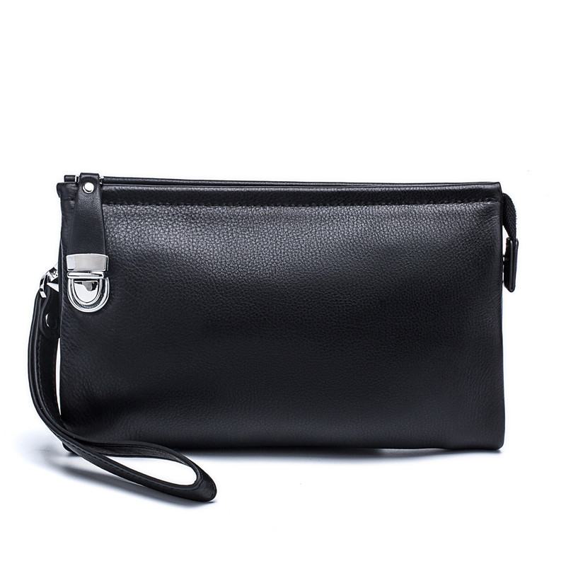 Hot New Item 100 Genuine Leather Men Business Clutch Bags Mobile Phone Case Cigarette Purse Pouch