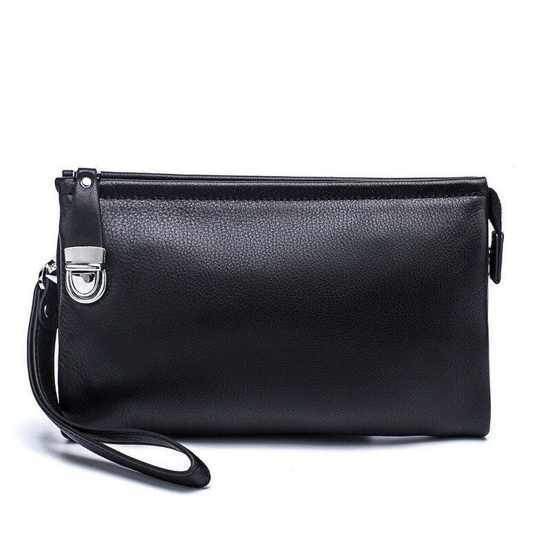 ホット新しい項目100%本革男性ビジネスクラッチバッグ携帯電話ケースタバコ財布ポーチ牛革男性ハンディバッグ財布  グループ上の スーツケース & バッグ からの 財布 の中 1