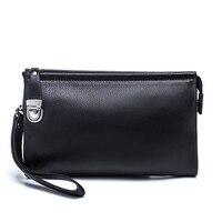 Hot New Item 100% Genuine Leather Men Business Clutch Bags Mobile Phone Case Cigarette Purse Pouch Cowhide Male Handy Bag Wallet