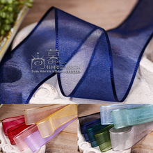 100yards 7/10/16/25/38mm organza sheer korean ribbon for  party accessories hair bow clip band decorative supplies
