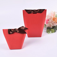 100 Pcs Small Gift Paper Bags For Jewelry Box Ribbon Kraft Chocolates Candy Packaging Wedding Party Favors 5.7x6x10cm