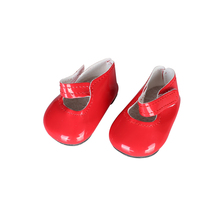 New style RED leather shoes&sport shoes fit 18 inch American girl dolldoll accessories best gift for children N413