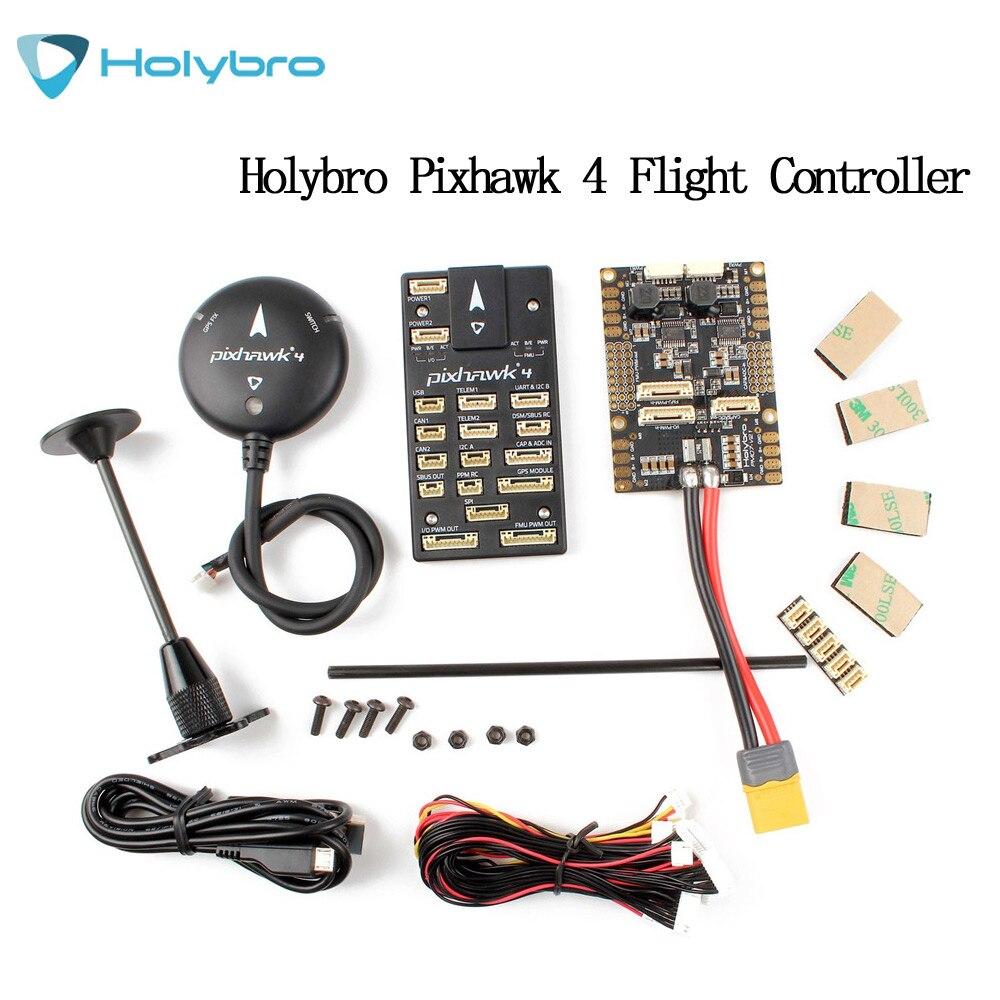 Oyuncaklar ve Hobi Ürünleri'ten Parçalar ve Aksesuarlar'de HolyBro Pixhawk 4 Otopilot uçuş kontrolörü ve M8N GPS Modülü Combo'da  Grup 1