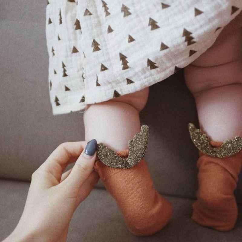 Новые детские носки детские плюшевые Дышащие носки с крылышками милые JUN-24 унисекс для мальчиков и девочек
