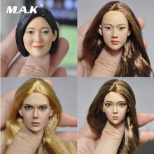 new hot 1/6 scale 16-86 83 84 85 sculpt female European Asian beautiful hair head carving for 12PH action figure accessories exquisite 1 6 scale accessories custom head sculpt carving female kumik 13 10 fit 12phicen cy hot toys woman body action figure