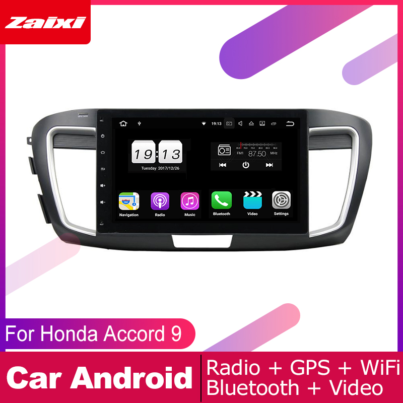 ZaiXi 2 DIN Auto Player GPS Navi Navigation For Honda Accord 9 2013 2017 Car Android Multimedia System Screen Radio Stereo in Car Multimedia Player from Automobiles Motorcycles