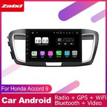 цена на ZaiXi 2 DIN Auto Player GPS Navi Navigation For Honda Accord 9 2013~2017 Car Android Multimedia System Screen Radio Stereo