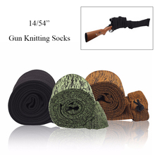 Airsoft Rifle/Pistol Knit Gun Sock Silicone Treated Handgun Protector Cover Holster Moistureproof Storage Bag Hunting Accessory