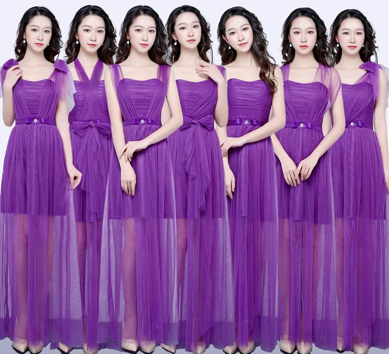 Tienda Online Memoria dulce gris dama de honor vestidos de largo ...