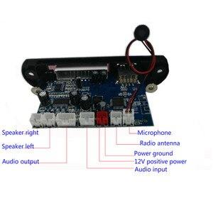 Image 4 - Tenghong MP3 מפענח לוח שני ערוץ מגבר אלחוטי Bluetooth 4.2 FM 10W + 10W 12V Lossless רכב רמקול APP אודיו מקלט