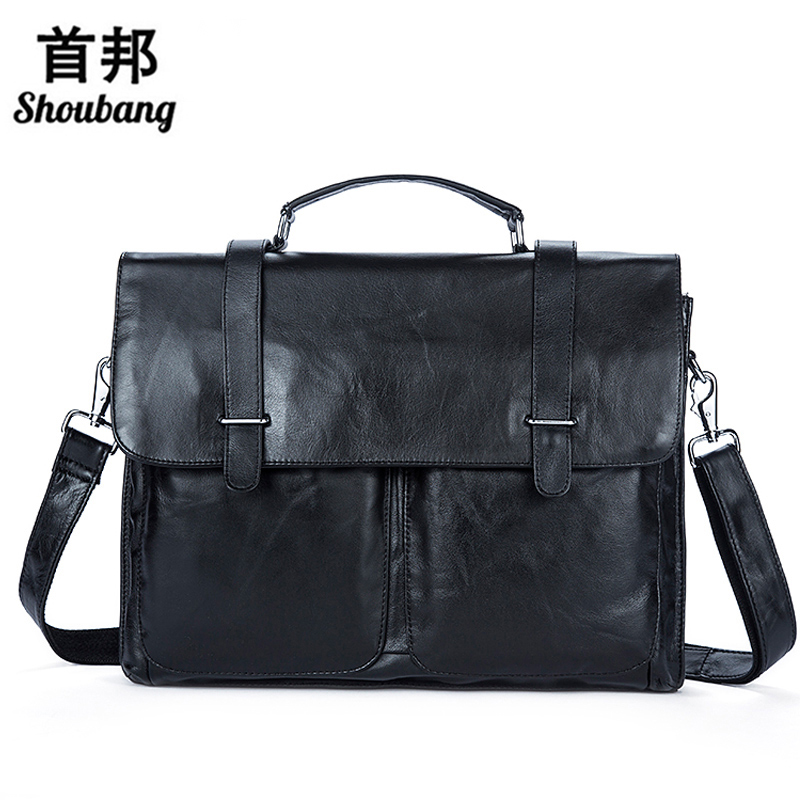 Genuine Leather Men Bag Mens Leather Bag for Work Men Briefcases Handbags Totes Large Shoulder Bags Briefcase Laptop Bags augus 100% genuine leather laptop bag fashional and classic crossbody bags leather for men large capacity leather bag 7185a