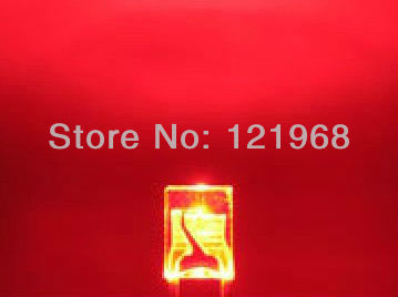 100PCS 2x3x4mm Rectangle LED Red Colour Red Light Emitting Diode