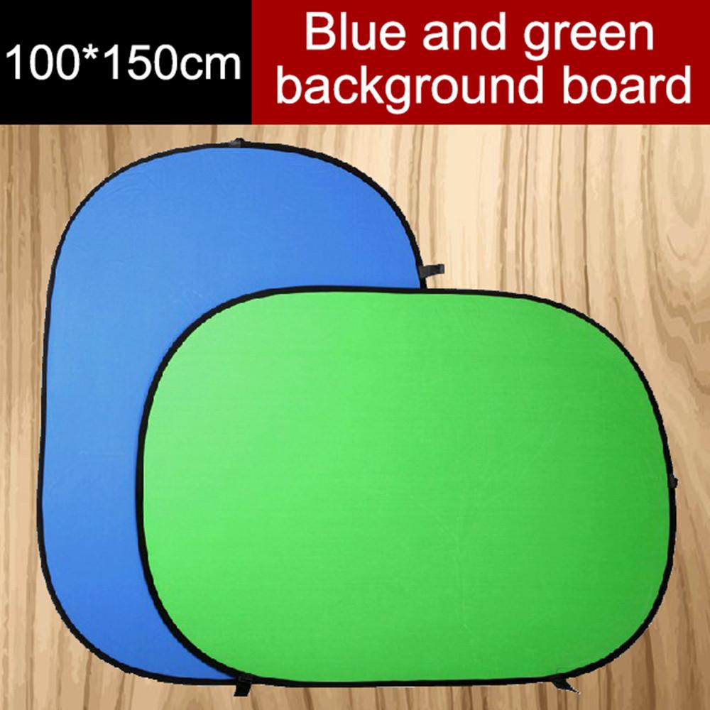 Prix pour Nouveau 100*150 cm pliable réflecteur, 2 en 1 bleu et vert fond conseil, pliage décors, Photo Studio Accessoires