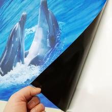 Cute Dolphin Bathroom Floor Self-adhesive PVC Waterproof