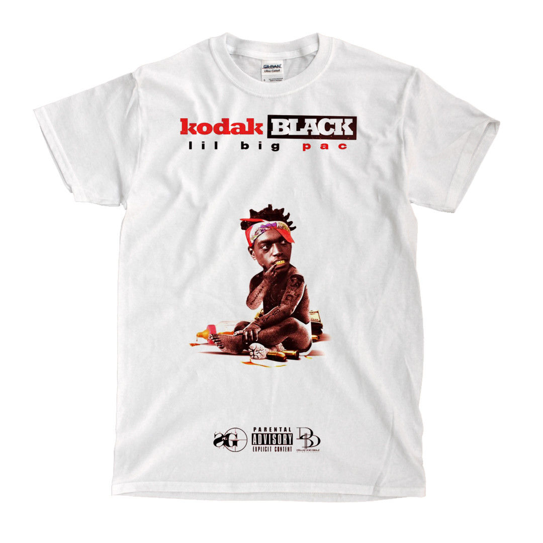 US $11 96 37% OFF|Kodak Black Lil Big Pac White T Shirt Cool Casual pride t  shirt men Unisex Fashion tshirt free shipping funny-in T-Shirts from Men's
