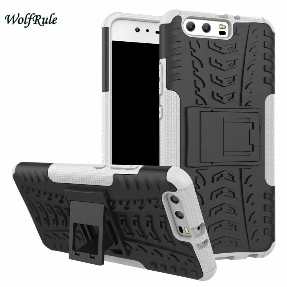 Чехол WolfRule для телефона huawei P10 Plus, антидетонационный чехол из ТПУ и ПК с подставкой, броня, чехол для телефона чехол для huawei P10 Plus Coque 5,5''