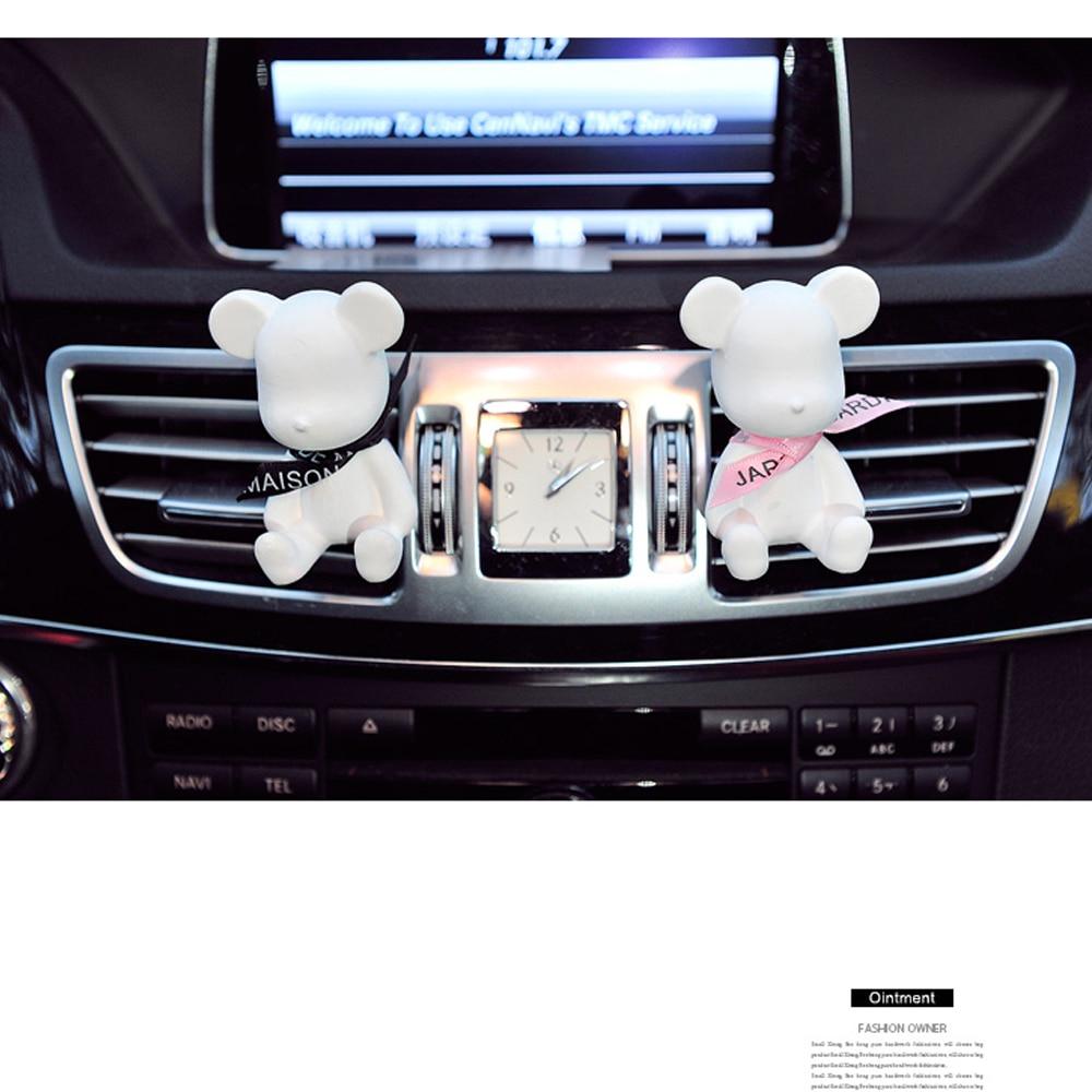 2017 the new creative cute bear car air conditioning air outlet perfume air freshener interior. Black Bedroom Furniture Sets. Home Design Ideas