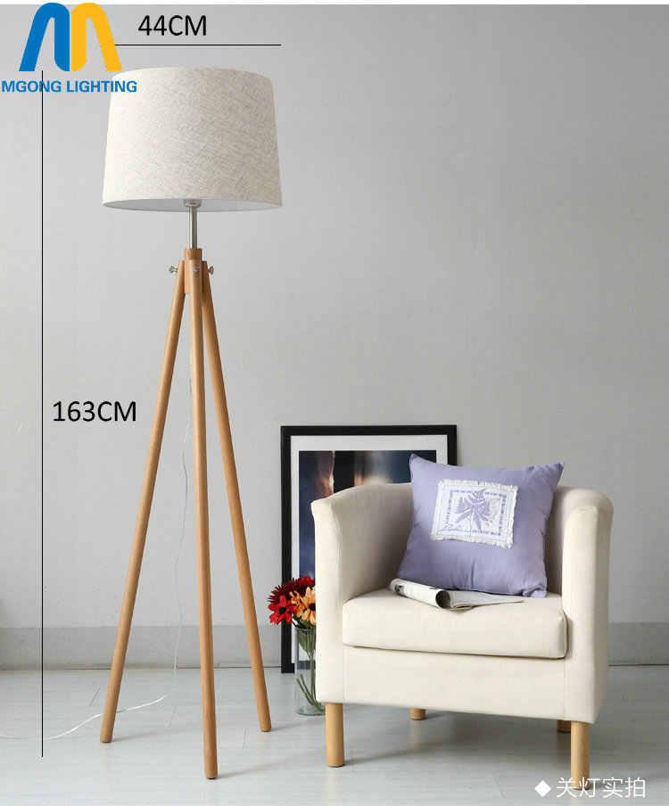 Современный светодиодный красивый деревянный дизайн торшеры стоящая лампа Япония с тканевой тенью для гостиной спальни столовой кабинета